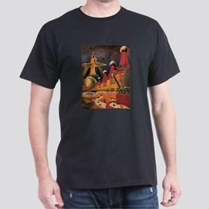 Vintage Science Fiction Futuristic City Dark T-Shi