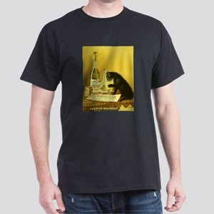 Absinthe Bourgeois Chat Noir Black T-Shirt