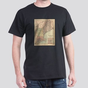 Vintage Map of New England (1880) T-Shirt
