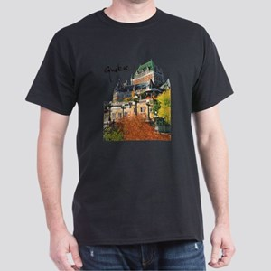 Frontenac Castle with Signatu Dark T-Shirt