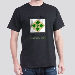 "4th inf div ""Steadfast and lo T-Shirt"