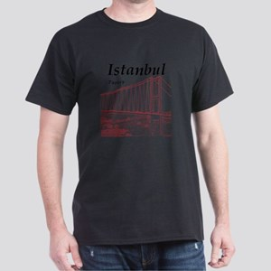 Istanbul_10x10_BosphorusBridge_v2_Red Dark T-Shirt