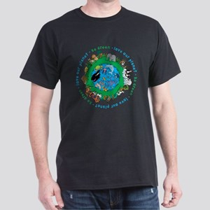 Be Green Love our planet Dark T-Shirt