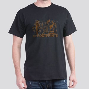 Leave Nothing but Footprints Brown Dark T-Shirt
