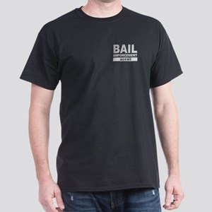 Gray Bail Enforcement Agent Letters on Black Shirt
