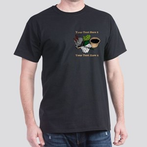Gardening. Custom Text Dark T-Shirt