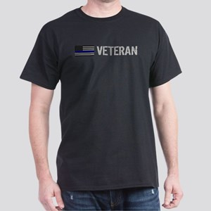 Police: Veteran (Thin Blue Line) Dark T-Shirt