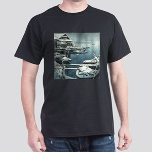 Vintage Japanese Boats in Winter T-Shirt