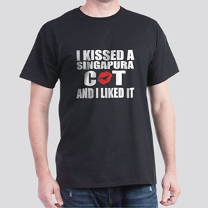 I Kissed Singapura Cat Dark T-Shirt