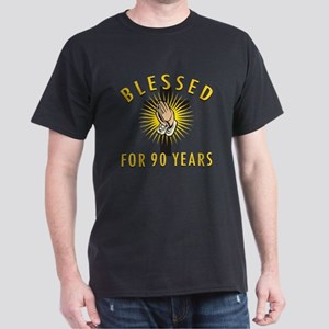 Blessed For 90 Years Dark T-Shirt