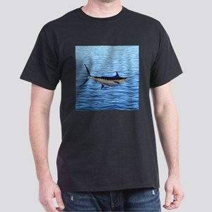 Blue Marlin on Water Dark T-Shirt
