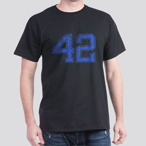 42, Blue, Vintage Dark T-Shirt