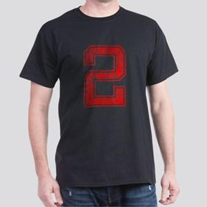 2, Red, Vintage Dark T-Shirt