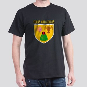 Turks and Caicos Coat of arms Dark T-Shirt