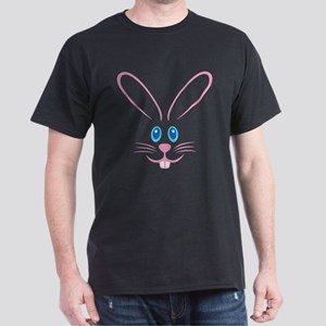 Pink Bunny Face Dark T-Shirt
