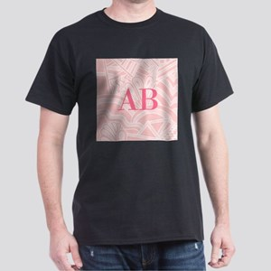 Pink Art Deco Style Monogram Design T-Shirt