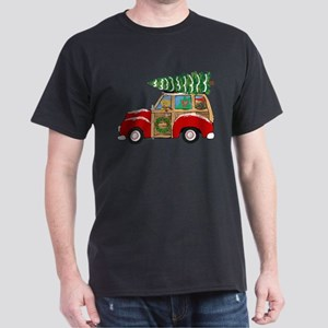 Vintage Christmas Woody Wagon T-Shirt