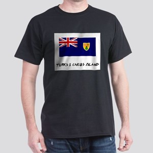 Turks & Caicos Island Flag Dark T-Shirt