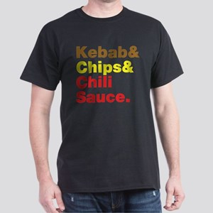 Kebab and Chips and Chili Sauce. T-Shirt