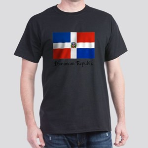 Dominican Republic Flag Design White T-Shirt