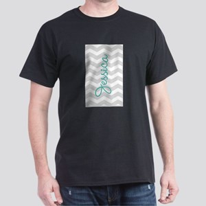 Custom name gray chevron T-Shirt