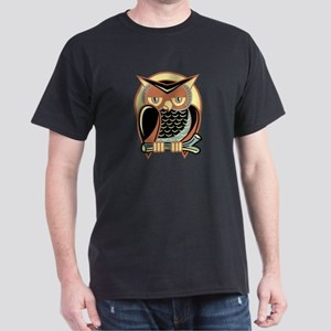 Retro Owl Dark T-Shirt