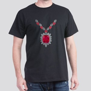 Large Ruby and Diamond Pendant T-Shirt