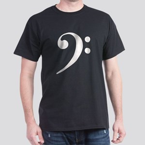 Bass Clef in Gold T-Shirt