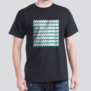 Turquoise and Grey Chevron T-Shirt