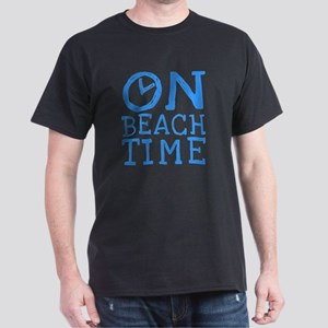 On Beach Time Dark T-Shirt