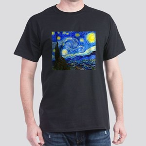 Van Gogh - Starry Night Dark T-Shirt