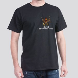 I Bowl Therefor I Am Logo 14 Dark T-Shirt Design F