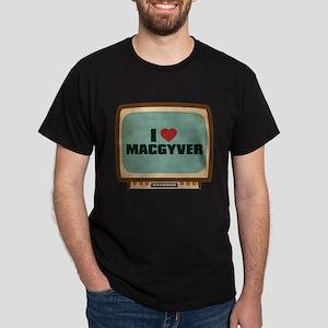 Retro I Heart MacGyver Dark T-Shirt