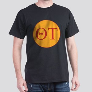 Theta Tau Fraternity Letters in Red w Dark T-Shirt