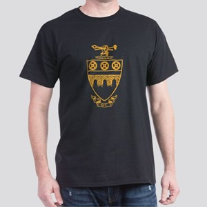 Theta Tau Fraternity Crest in Yellow Dark T-Shirt
