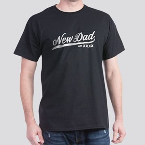 New Dad Personalizable Dark T-Shirt