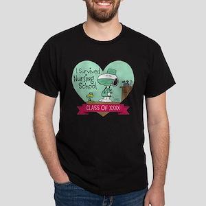 Snoopy Woodstock Nursing School Dark T-Shirt