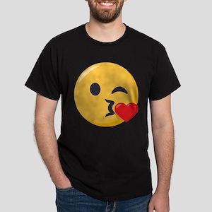 Kissing Emoji Dark T-Shirt