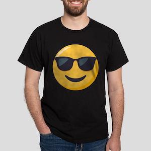 Sunglasses Emoji Dark T-Shirt