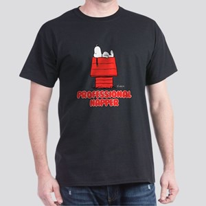 Snoopy Black and White Dark T-Shirt