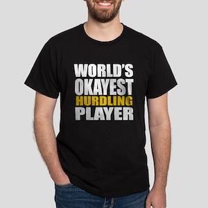 Worlds Okayest Hurdling Player Design Dark T-Shirt