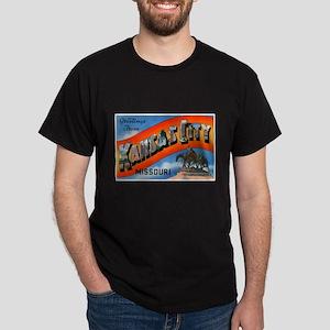 Kansas City Missouri Greetings (Front) Black T-Shi