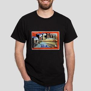 Decatur Alabama Greetings (Front) Dark T-Shirt