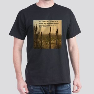 Chief Joseph Earth Quote Dark T-Shirt