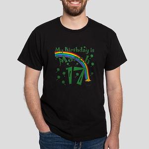 St. Patrick's Day March 17th Birthday Dark T-Shirt