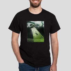 Comical Cow Abduction Dark T-Shirt