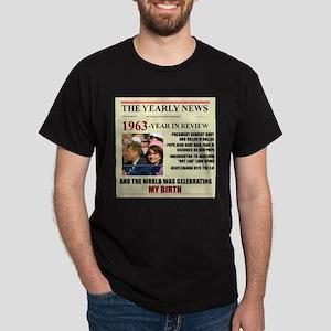 born in 1963 birthday gift Dark T-Shirt