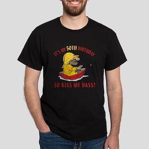 Fishing Gag Gift For 50th Birthday Dark T-Shirt