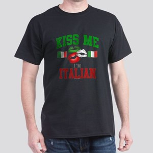 Kiss Me I'm Italian Dark T-Shirt