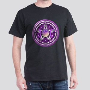 Purple Triple Goddess Pentacle Dark T-Shirt